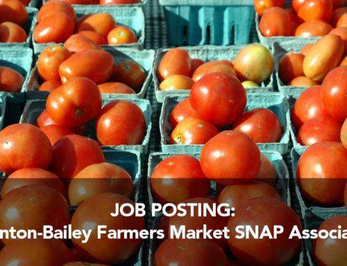 Job Posting: Clinton-Bailey Farmers Market SNAP Associate